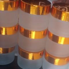 50ml Glass Gold cap jar (1 dozen)