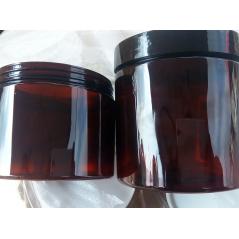 500ml Amber plastic jar (20 pieces)